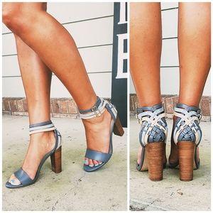 Anthropologie Splendid Blue Heels